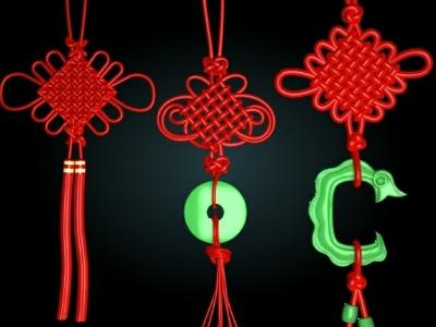 pendenti con nodi cinesi
