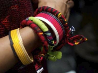 Brecciali colorati in stoffa
