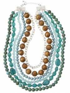 Collana con perline colorata