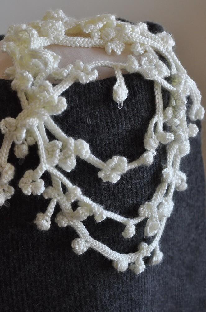 Collana a fili fatta a mano con uncinetto by Eveldasneverland
