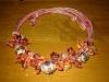 collana con nodi e pendenti in perle