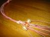 collana con nodi e perle primo step