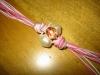 collana con nodi e perle secondo step