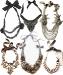 Collane stoffa e perle vari modelli