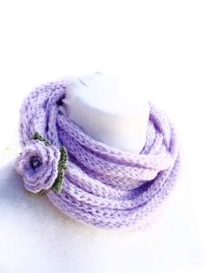collana uncinetto lana fatta a mano