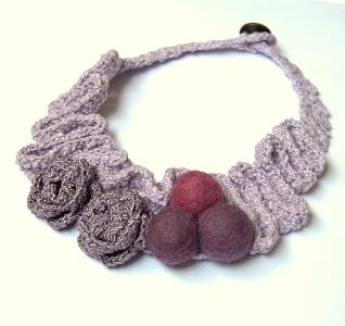 collana uncinetto artigianale lana