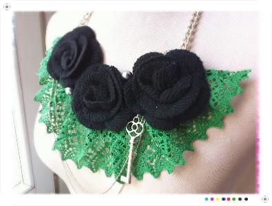 collana fai da te uncinetto tre fiori lana