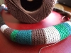 Collana tubolare di lana