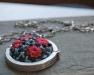 Ciondolo di lana per collana fatta a mano