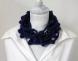 collana in lana blu