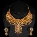 Grande collana etnica oro e pietre dure