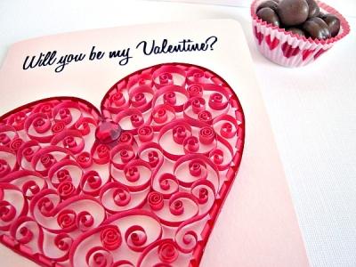 Quilling gioielli e decorazioni cuori per san valentino - San valentino decorazioni ...
