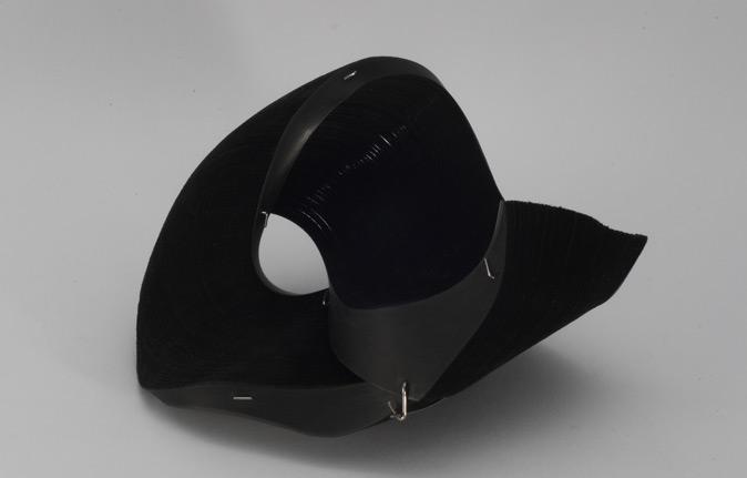 Bracciale informal design di carta nero