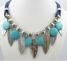 gioielli collana turchese con piume