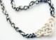 nodo celtico collana bianco nera