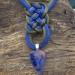pendente nodi cinesi in seta blu e grigia