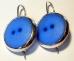 Orecchini bottoni blu