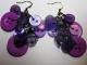 Orecchini bottoni viola