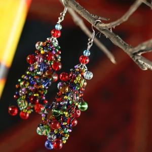 Orecchini etnici con perline