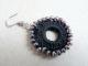 orecchino uncinetto cerchio con contorno in perline