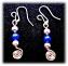 orecchini perline filo di rame pendenti