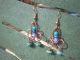 orecchini fatti a mano filo di rame e perline