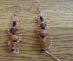 orecchini filo di rame e perline