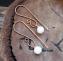 orecchini perline e filo di rame semplici