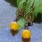 orecchini perline e filo di rame fatti a mano