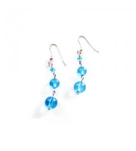 orecchini con perline turchesi