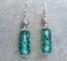 orecchini con pietra verde mare