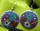 orecchini fai da te fimo cerchi decorati