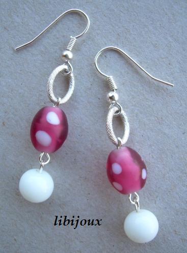 Orecchini con perle di vetro by libijoux