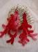 corallo per orecchini fatti all uncinetto