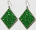 orecchini verde brillante
