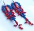 orecchini-di-pizzo-macrame-blue-con-conterie-rosse