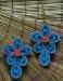 Orecchini quilling fiori azzurri