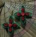 Orecchini quilling fiore