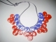 quilling: collana rosso-blu