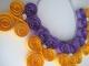 quilling: collana arancio-viola