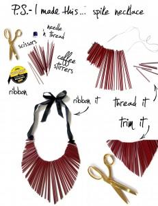 Come fare una collana con materiale riciclato