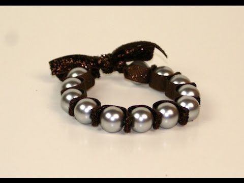 Bracciale con perle e fettuccia di raso facilissimo