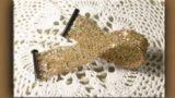 Braccialetto con filo metallico sottilissimo all'uncinetto