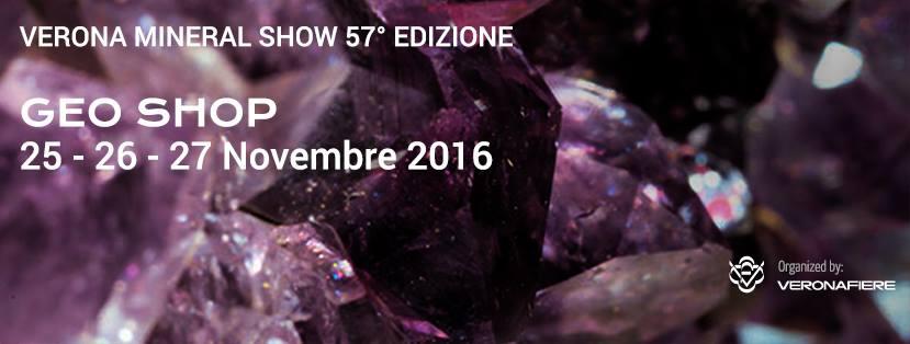 Verona Mineral Show – Geo Shop novembre 2016