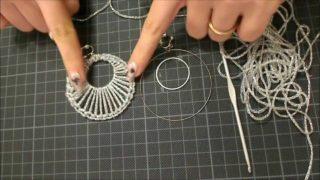 Orecchini all'uncinetto con filo di cotone facilissimi
